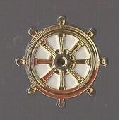 Pin's Barre / Gouvernail De Bateau (Contour Dor�, Relief)