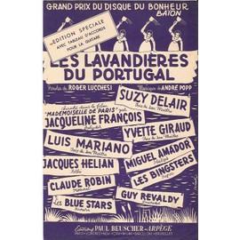 partition JACQUELINE FRANCOIS LUIS MARIANO SUZY DELAIR YVETTE GIRAUD CLAUDE ROBIN MIGUEL AMADOR les lavandières du Portugal