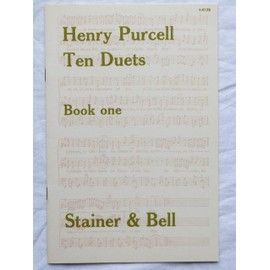 Henry Purcell - Ten Duets - book 1 - 2 flûtes soprano et piano