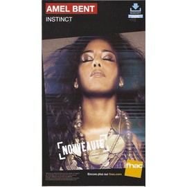 rare PLV cartonnée rigide 14x25cm AMEL BENT instinct 2014 / magasins FNAC