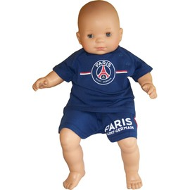 Ensemble B�b� Gar�on T-Shirt + Short Psg - Collection Officielle Paris Saint Germain - Baby Football