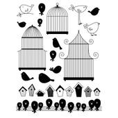 Tampon Transparent - Cages Et Oiseaux - Art�mio