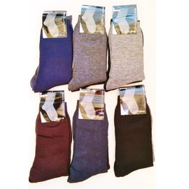 Lot De 12 Chaussettes Hautes Classiques Unies Taille Unique 39 - 46 Lims