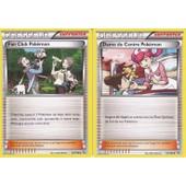 Lot De 2 Cartes Pokemon - Fan Club Pokemon 94/106 + Dame Du Centre Pokemon 93/106