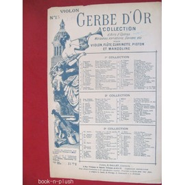 gerbe d'or collection d'airs, mélodies... pour violon Marseillaise, hymne russe, Brabançonne, les Allobroges