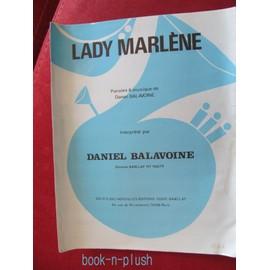 lady Marlène de Daniel Balavoine chant piano