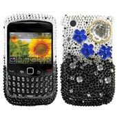 Coque Housse �tui Cloudy Night Strass Pour Blackberry Curve 8520 8530 9300