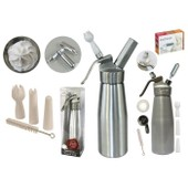 Siphon professionnel en m�tal 500 ml + 10 cartouches � chantilly