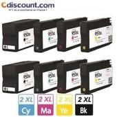 Pack De 8 Cartouches Pour Hp 950 951 Xl