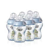 Tomme Tippee -Closer To Nature - Lot De 6 Biberons Bleus D�cor�s De 260 Ml - 0m+ Sans Bpa