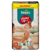 Pampers - 81376061 - Easy Up Couches Culottes - Taille 4 Maxi - 8-15 Kg - Format Economique X 50 Couches