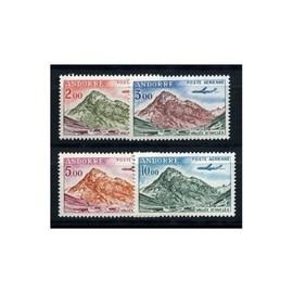 Andorre 1961-64 Poste Aérienne Yvert Nos. 5/8 neufs** sans chanière