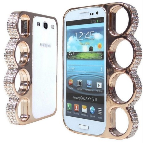 Coque Poing Américain Pour Galaxy S3 - Rose Gold / Champagne ...
