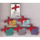 Pin's Arthus Bertrand Paris Lot De 6 Pin's Differents Croix Rouge Des Preuves D'amour