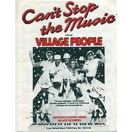partition Can't stop the music - Village People - Editions Scorpio Music