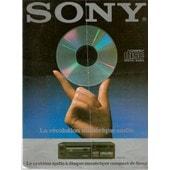 Brochure Publicitaire Du 1er Lecteur De Cd Du Monde Sony Cdp-101 1983