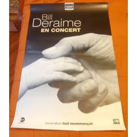 AFFICHE CONCERT BILL DERAIME FORMAT 119.5X79 BON ETAT & TRES RARE