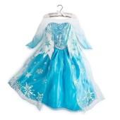 Robe Elsa La Reine Des Neiges Avec Flocon De Neige Tenue Princesse D�guisement Cosplay Pour Anniversaires Soir�es Sorties Mariages F�tes Mignon Sweat Kawaii Age 3 � 7 Ans Envoie Imm�diat