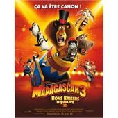 Madagascar 3 Bons Baisers D'europe - V�ritable Affiche De Cin�ma Pli�e - Format 120x160 Cm - De Eric Darnell Avec Les Voix De Ben Stiller, Chris Rock, Frances Mcdormand - 2012