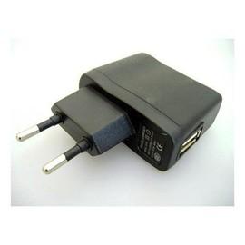 Adaptateur Chargeur Secteur USB Plat Noir pour MP3 GPS PDA 500mA 5V