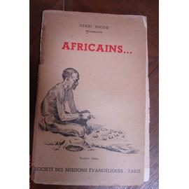 Africains... de henri nicod