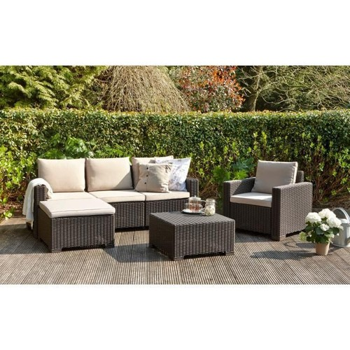 allibert jardin moorea salon de jardin 4 pieces aspect rotin pas ...