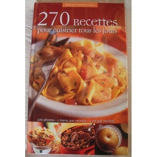 270 recettes pour cuisiner tous les jours de jean yves andant format beau livre. Black Bedroom Furniture Sets. Home Design Ideas