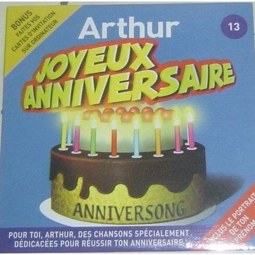 Joyeux Anniversaire Arthur Anniversong Cd Album Rakuten
