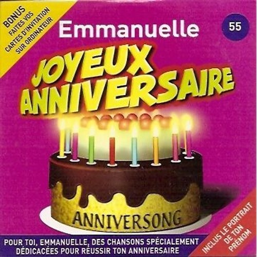 Joyeux Anniversaire Emmanuelle Anniversong Cd Maxi Rakuten