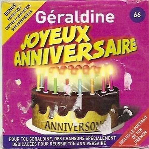 Joyeux Anniversaire Geraldine Anniversong Cd Album Rakuten