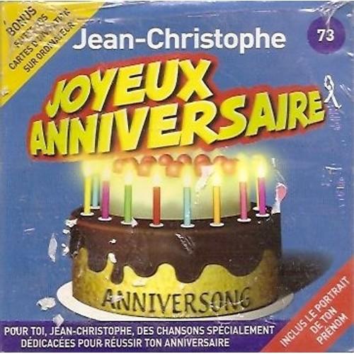 Joyeux Anniversaire Jean Christophe Anniversong Cd Album Rakuten