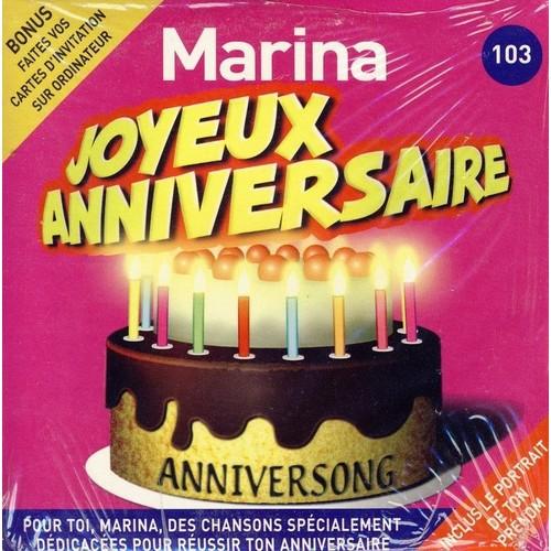 Joyeux Anniversaire Marina Anniversong Cd Album Rakuten