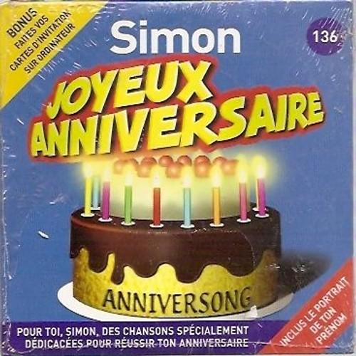 Joyeux Anniversaire Simon Anniversong Cd Album Rakuten
