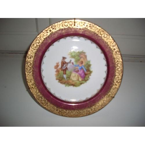 assiette de decoration porcelaine de limoges achat et vente