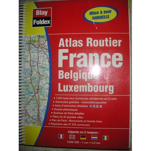 atlas routier france belgique luxembourg de blay foldex rakuten. Black Bedroom Furniture Sets. Home Design Ideas