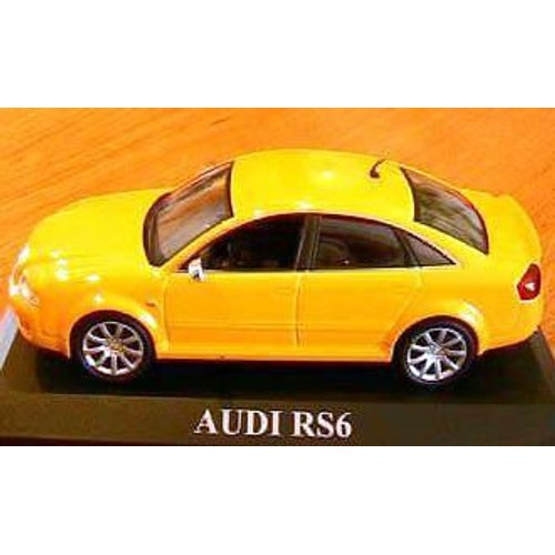 audi rs6 jaune ixo altaya 1 43 yellow altaya neuf et d. Black Bedroom Furniture Sets. Home Design Ideas