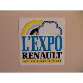 Autocollant L'expo Renault - Des Voitures � Vivre (Automobile)