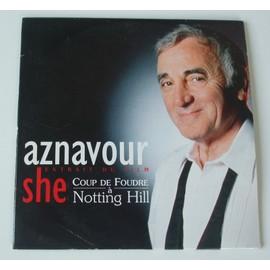 She bo coup de foudre notting hill aznavour charles - Coup de foudre a notting hill musique ...