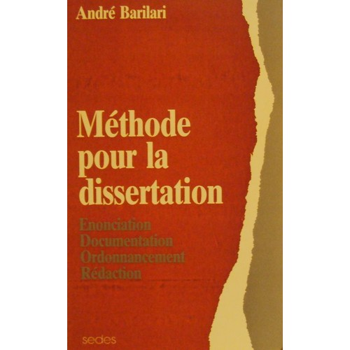 dissertation mthode