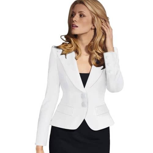 blazer blanc femme achat et vente neuf d 39 occasion sur. Black Bedroom Furniture Sets. Home Design Ideas