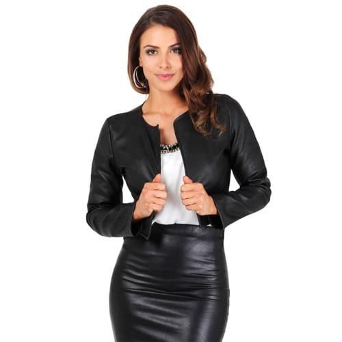Veste simili cuir femme pas cher grande taille