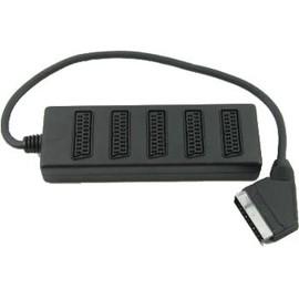 Bloc Multiprises 5 Connecteurs Peritel