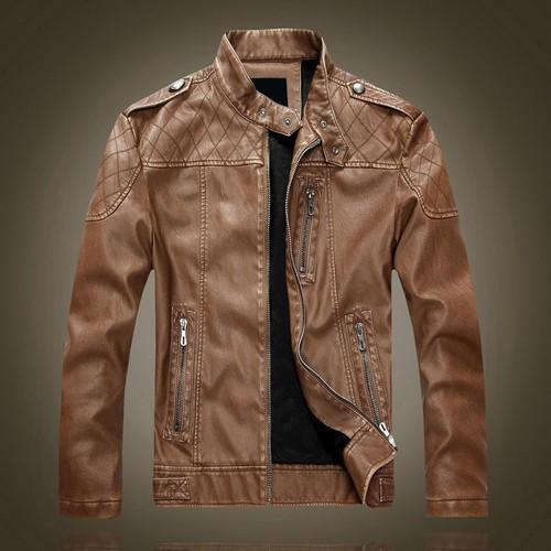 Veste moto cuir homme embrosing black neuf