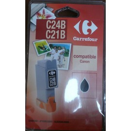 carrefour c24b c21b cartouche d 39 encre noir compatible canon bci 24bk. Black Bedroom Furniture Sets. Home Design Ideas