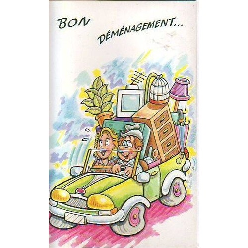 Super Demenagement - Carte Postale A 2 Volets 19 Cm Par 11 Cm + Enveloppe XQ49
