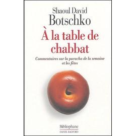 A La Table De Chabbat de Shaoul-David Botschko