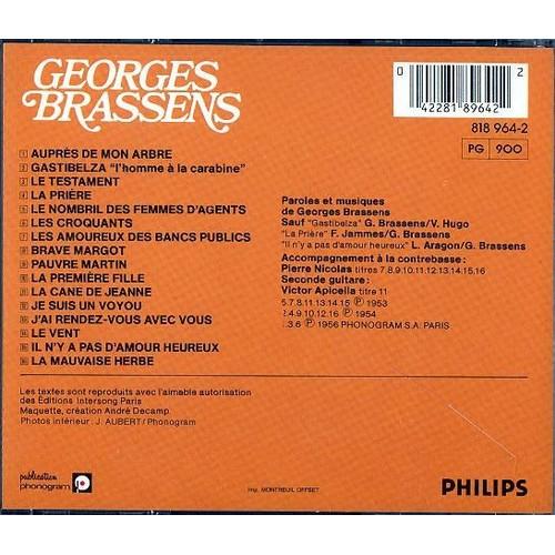 Les Amoureux Des Bancs Publics Georges Brassens Cd Album Rakuten