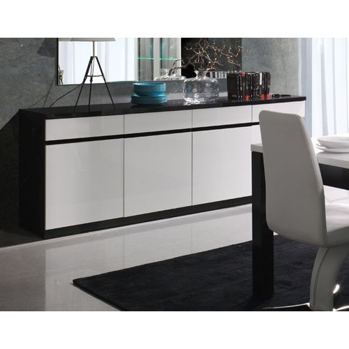 buffet noir laque pas cher ou d 39 occasion sur priceminister rakuten. Black Bedroom Furniture Sets. Home Design Ideas