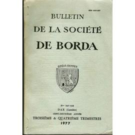 Bulletin De La Société Borda.