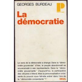 La Democratie de georges burdeau